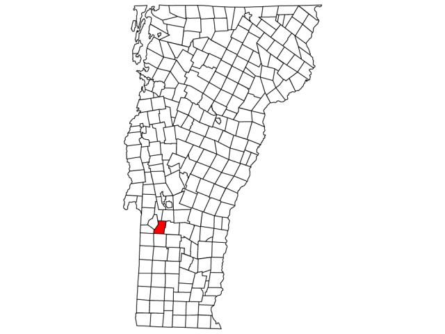 Tinmouth locator map