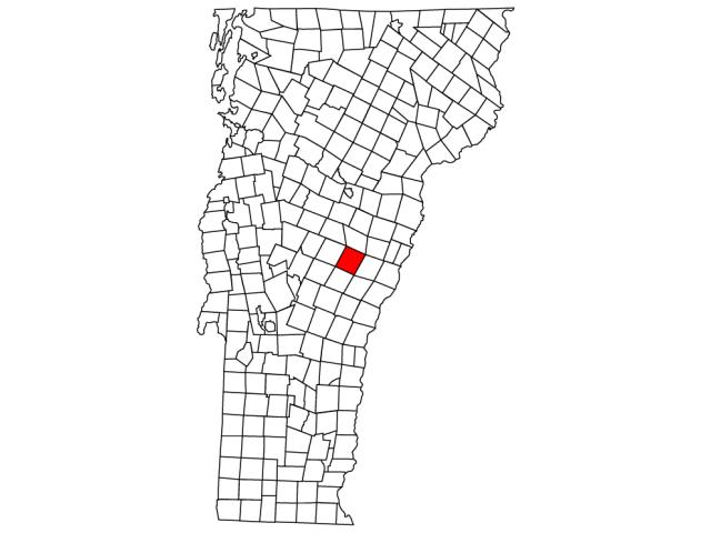 Tunbridge locator map