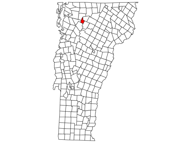 Waterville locator map