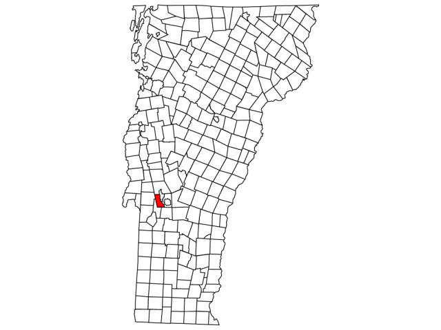 West Rutland locator map