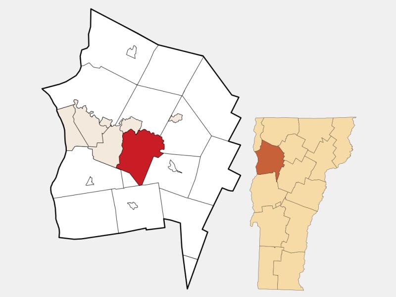 Williston locator map
