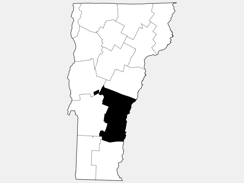 Windsor County locator map