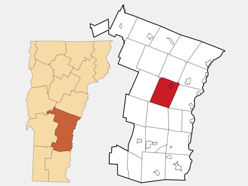 Woodstock locator map