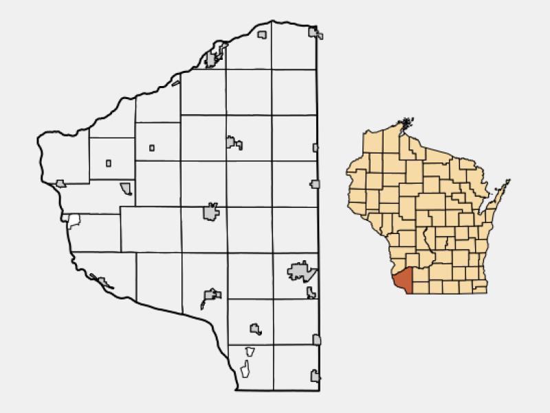 Boscobel locator map