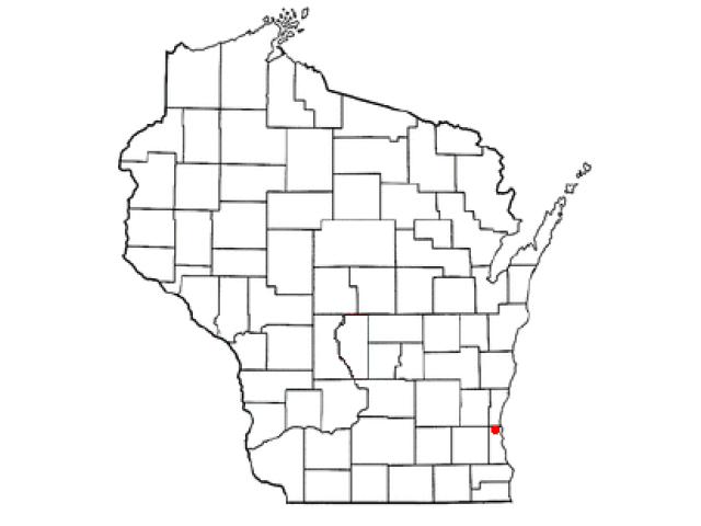 Brown Deer locator map