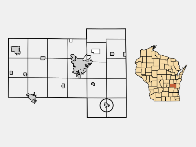 Campbellsport locator map
