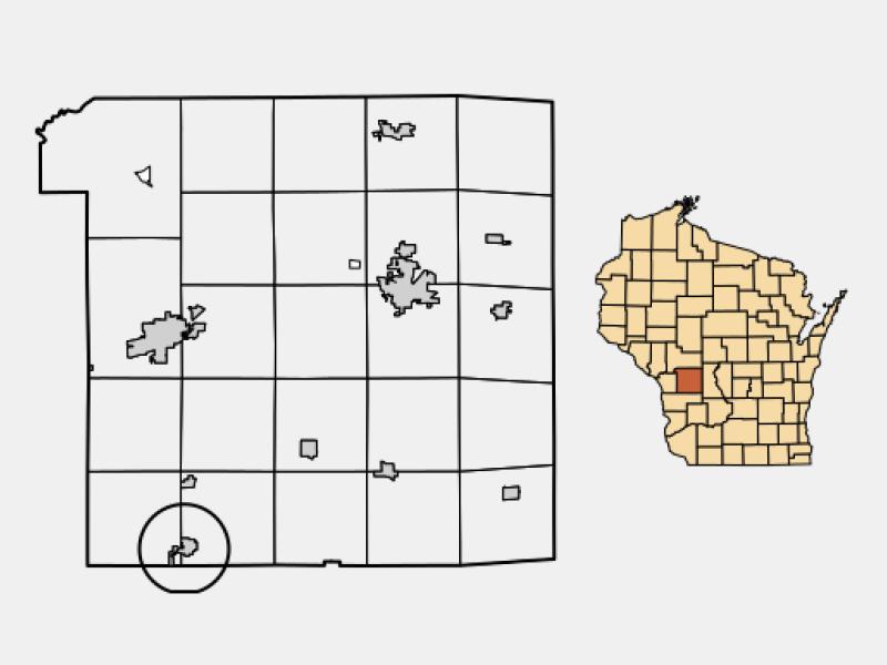 Cashton locator map