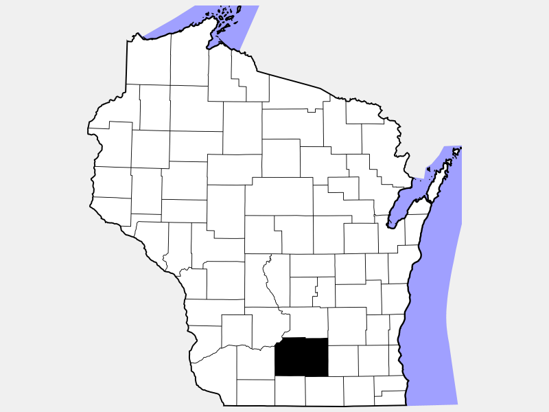 Dane County locator map