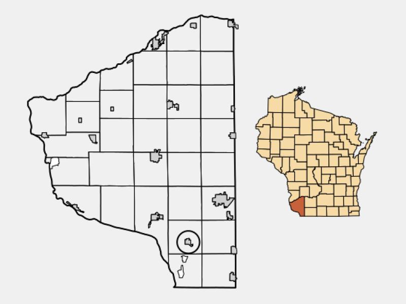 Dickeyville locator map