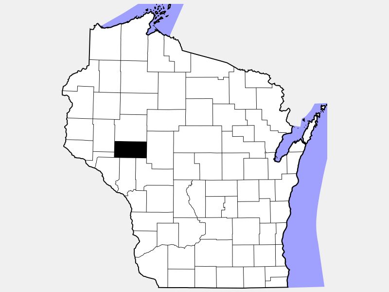 Eau Claire County locator map