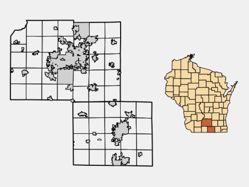 Edgerton locator map