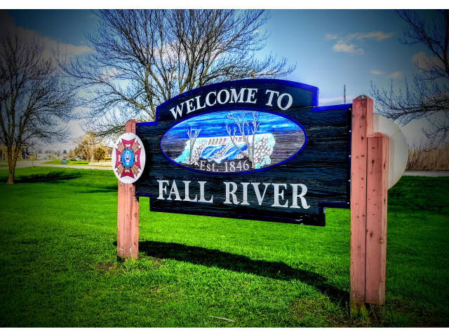 Fall River  Wisconsin Entrance Sign image