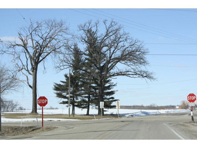 Town of Farmington Jefferson County Wisconsin Looking north at intersection of County D and County B image