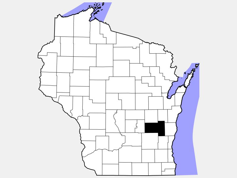 Fond du Lac County locator map