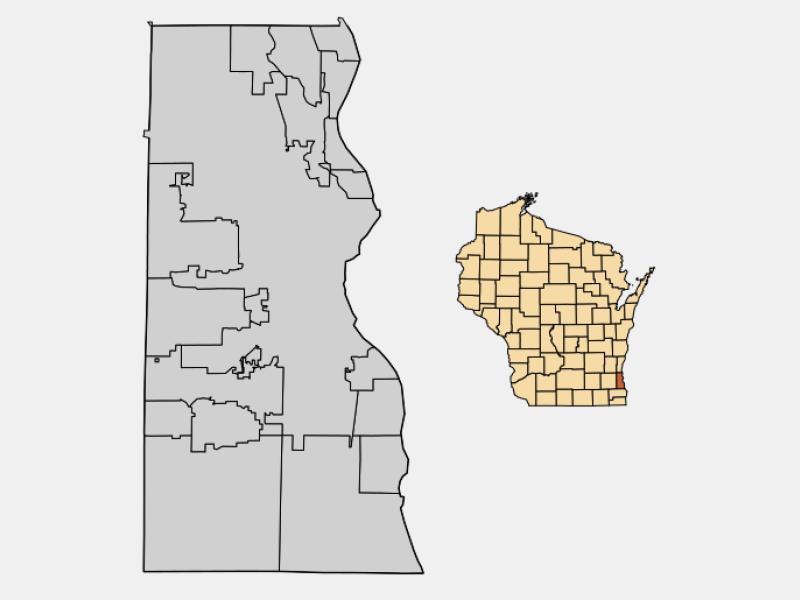 Fox Point locator map