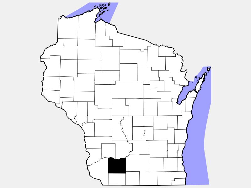 Iowa County locator map