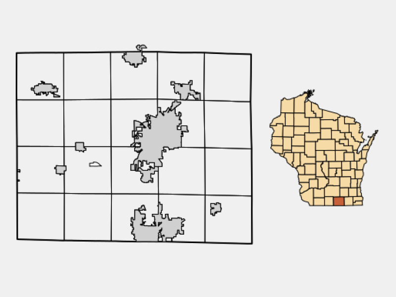 City of Janesville locator map