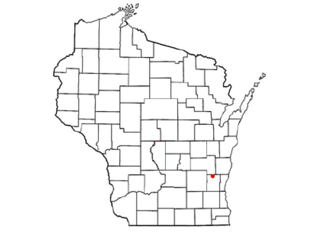 Kewaskum locator map