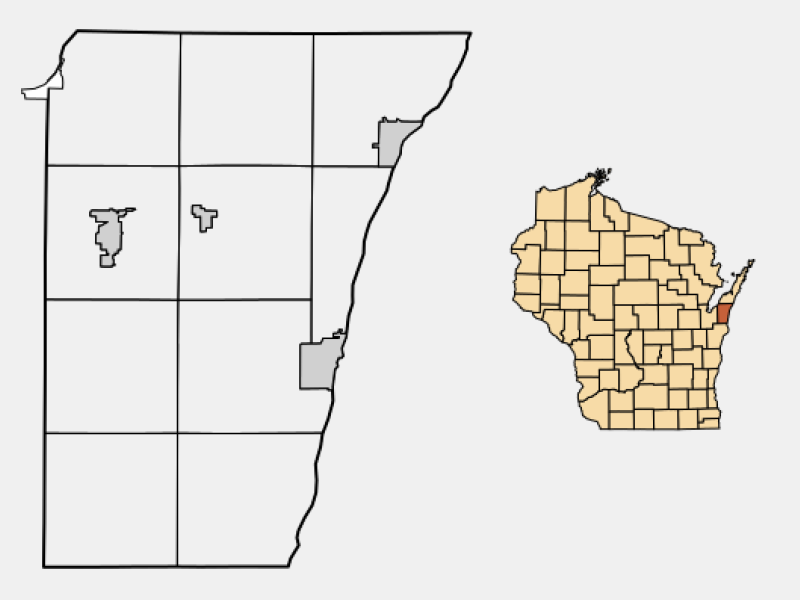 Kewaunee location map