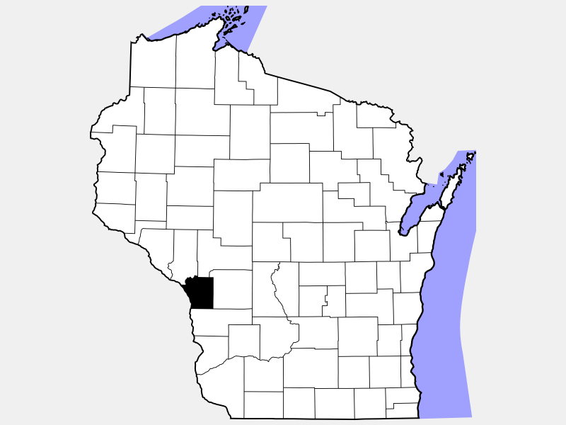 La Crosse County locator map