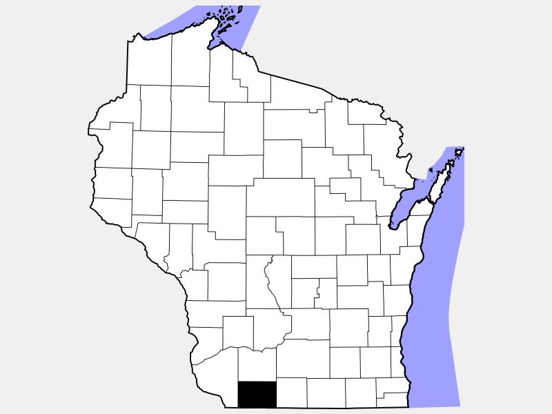 Lafayette County locator map