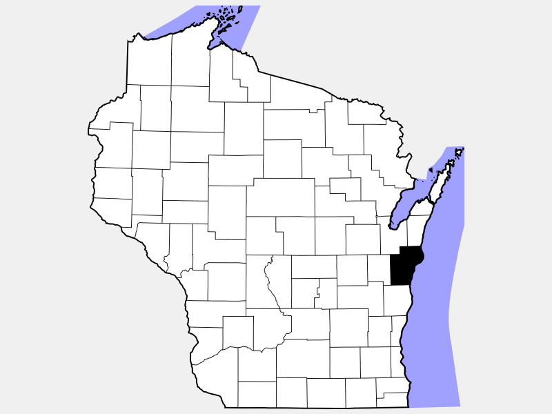 Manitowoc County location map