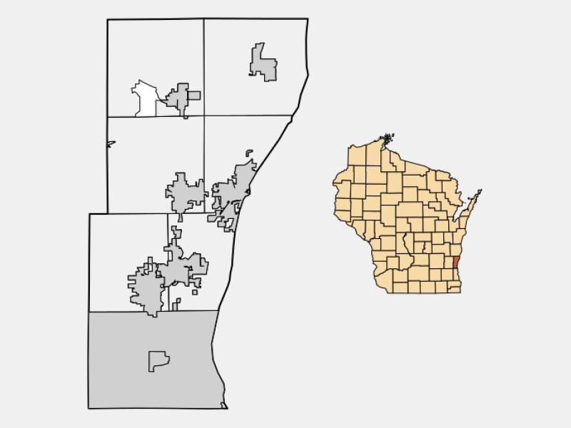 Mequon locator map