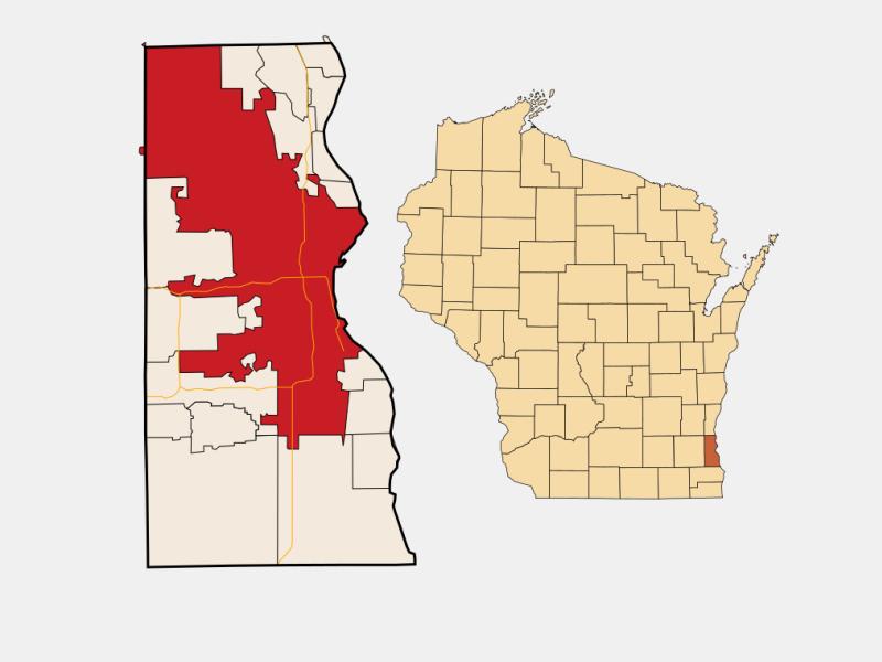 Milwaukee locator map