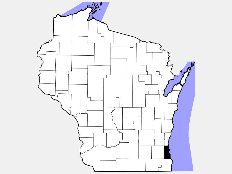 Milwaukee County locator map