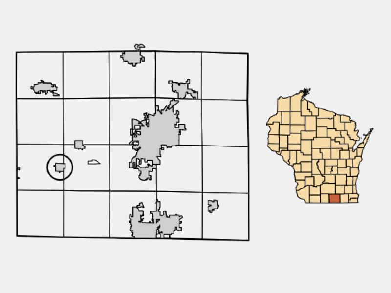 Orfordville locator map