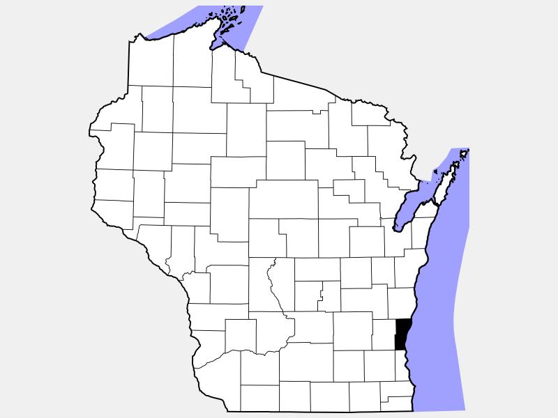 Ozaukee County locator map