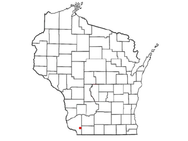 Platteville locator map