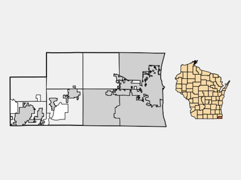 Pleasant Prairie locator map