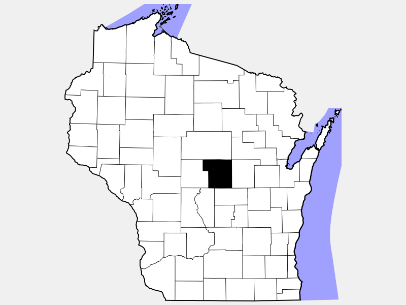 Portage County location map