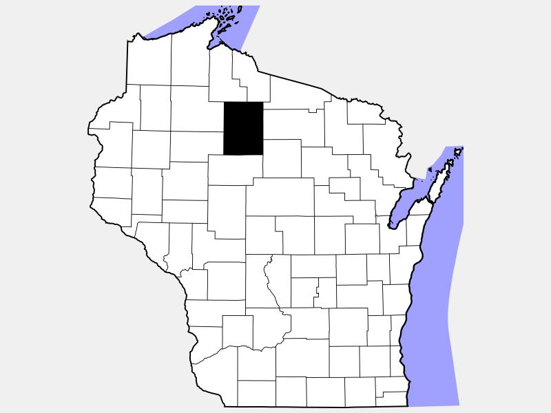 Price County locator map