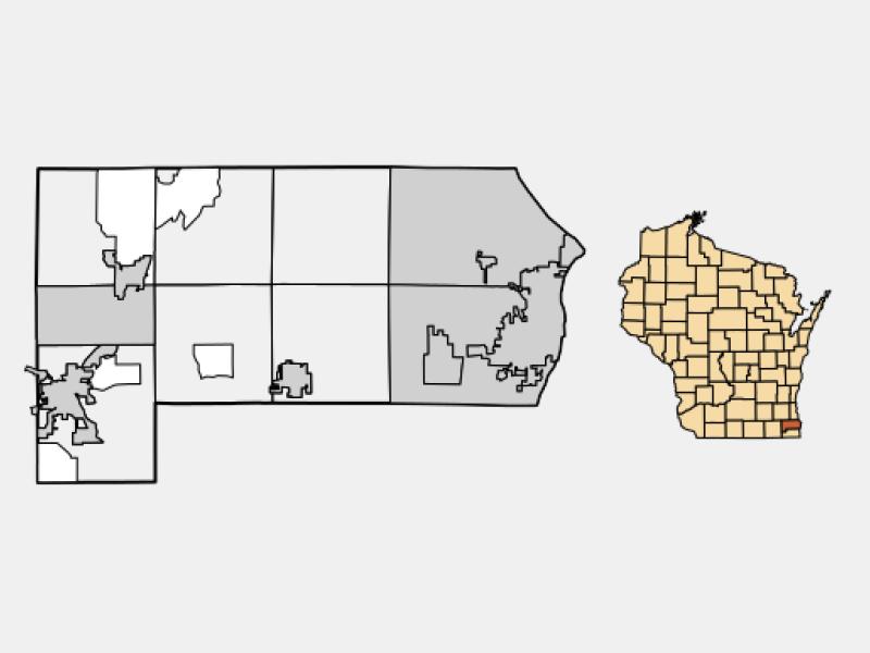 Racine locator map