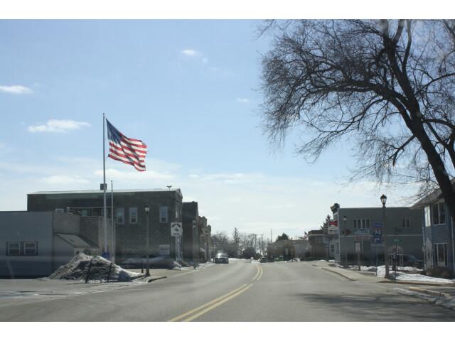 Sullivan Wisconsin Downtown Looking West US18 image