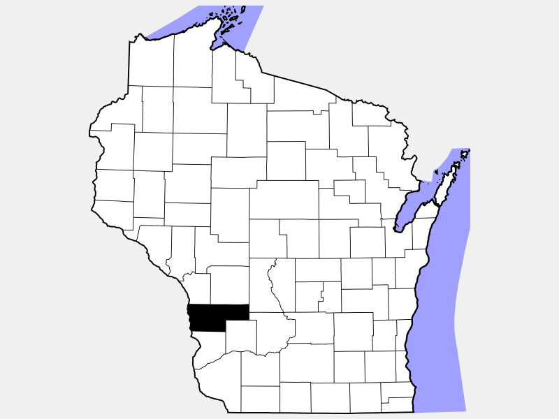 Vernon County locator map