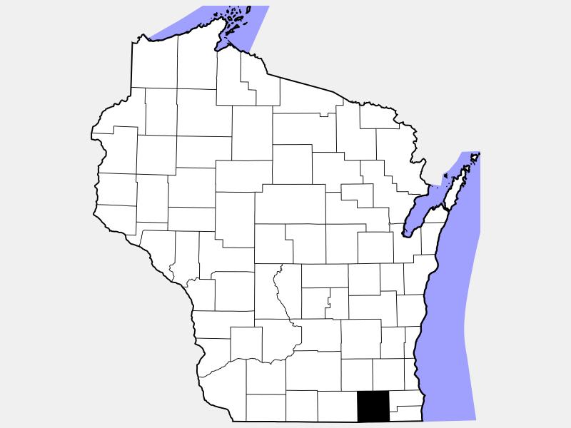 Walworth County locator map