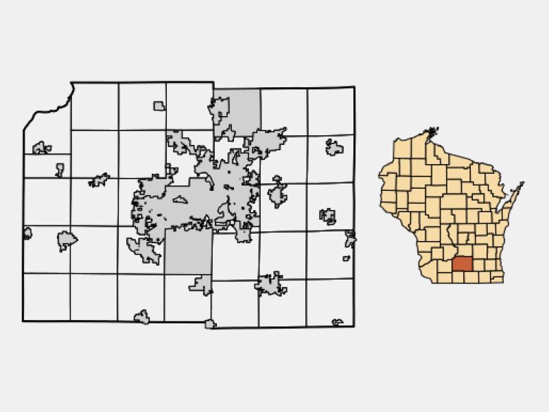 Waunakee locator map