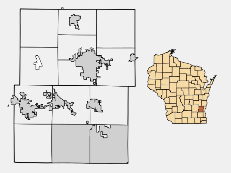 West Bend locator map