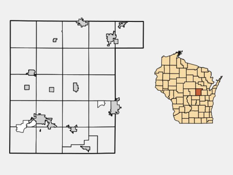 Weyauwega locator map
