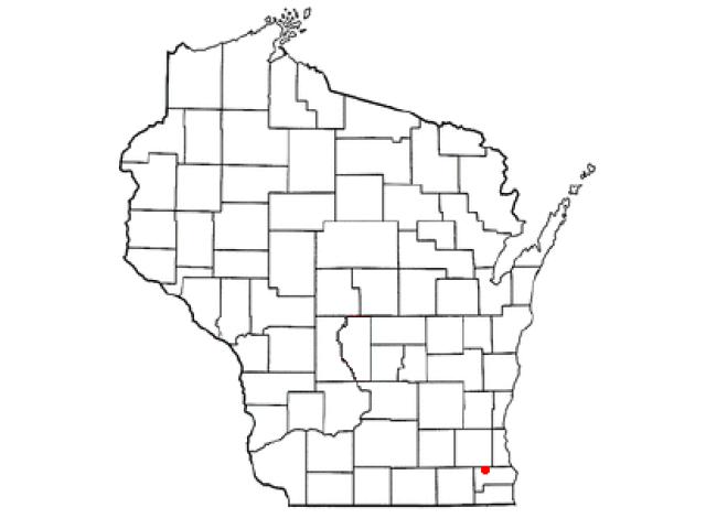 Wind Lake locator map