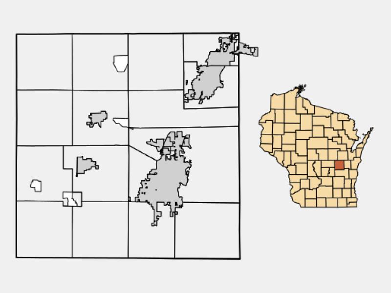 Winneconne locator map