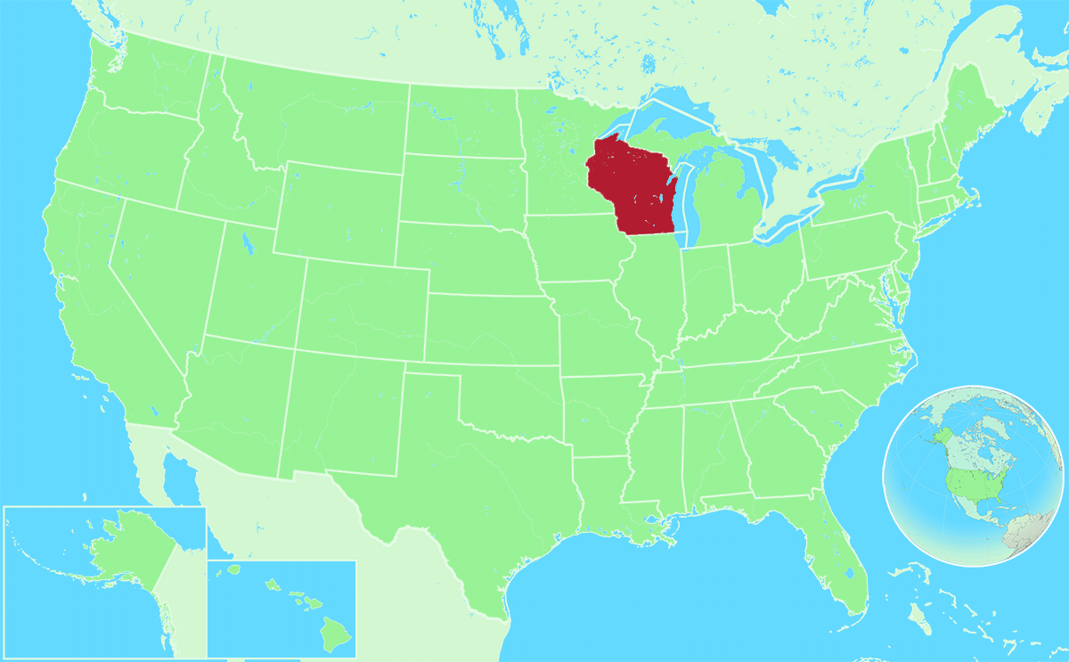 Wisconsin locator map
