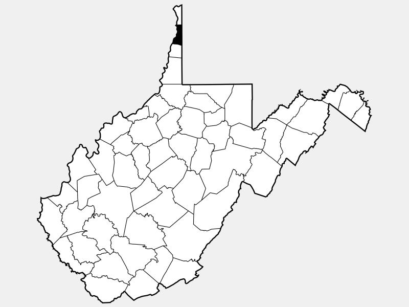 Brooke County locator map