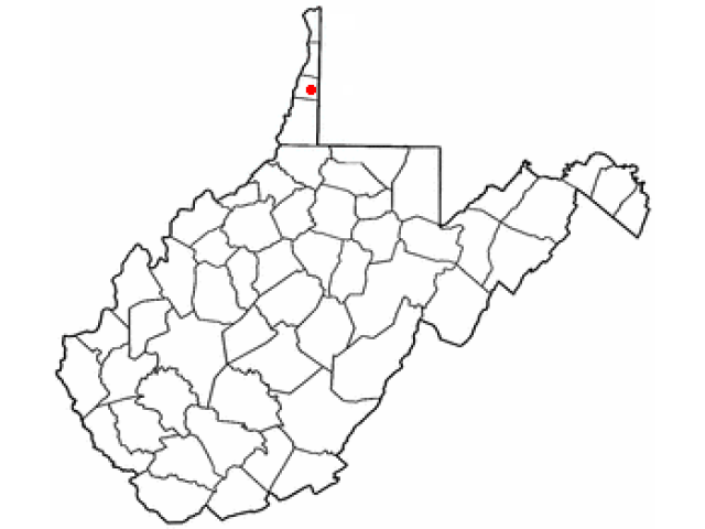 Valley Grove locator map