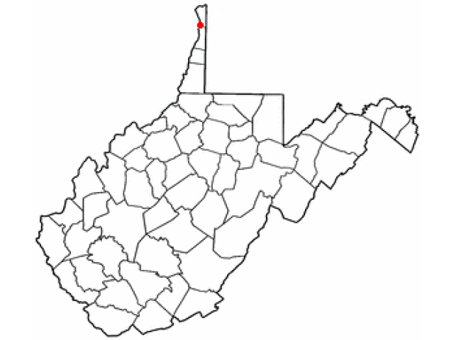 Weirton locator map