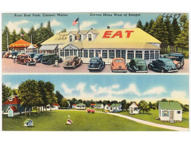 Auto Rest Park  Carmel  Maine  eleven miles west of Bangor '66697' image