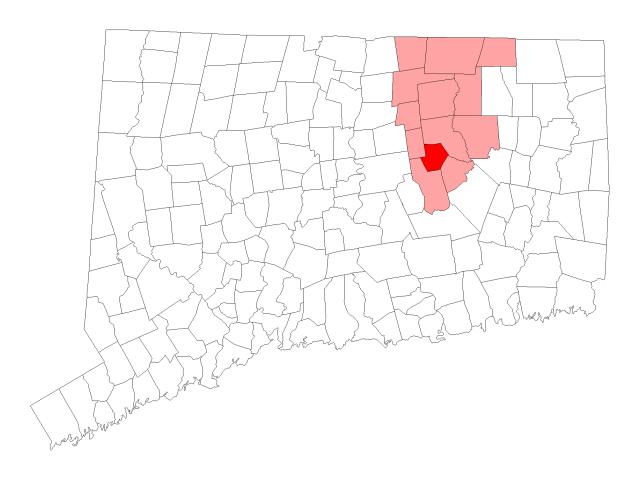Andover locator map